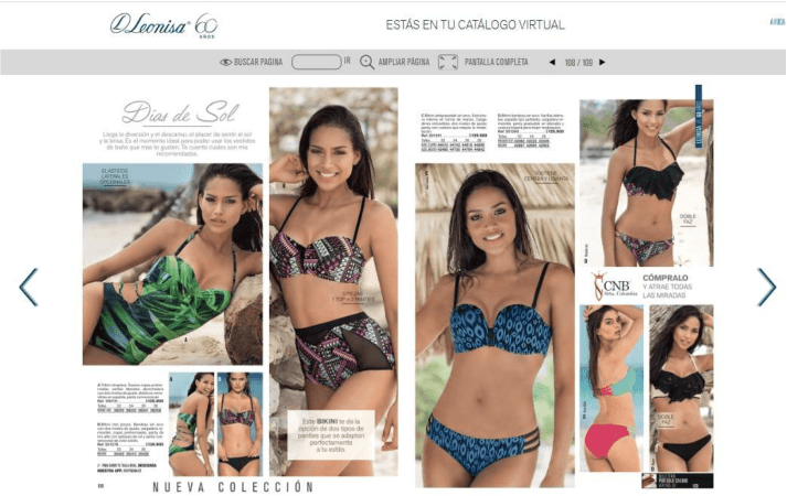 Leonisa spread from 2016 featuring Miss Colombia Andrea Tovar.