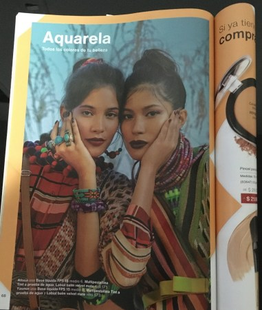 Though the majority of Colombians are mixed Amerindian descent, Amerindian people are almost completely excluded from marketing. These two models, identified as Alissa & Yasmín are featured in Natura's catalog ciclo 02 2020.