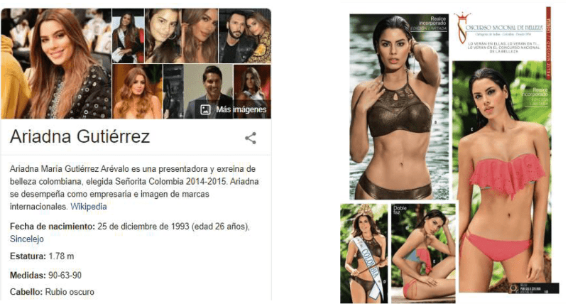 Ariadna Gutierrez is a former Miss Colombia who hails from Sincelejo, a small city near Cartagena. Gutiérrez suffered bullying and social media attacks for simply posting an unretouched teenage photo of herself without professional makeup or